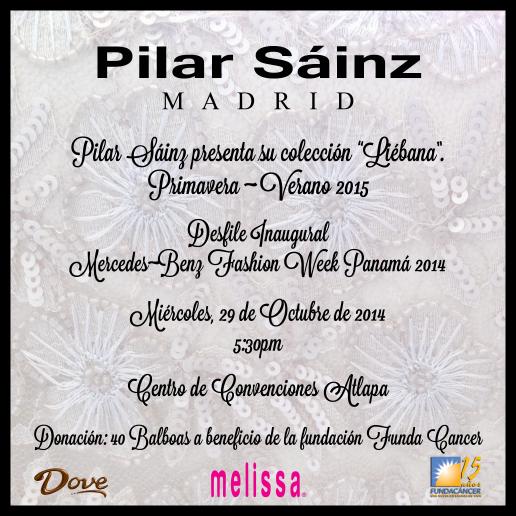 Pilar Sainz MBFWP 2014 Invitation with Logos
